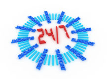Support seven days a week 24 hours. If require help, assistance or instructions on how to solve a problem Stock Photos