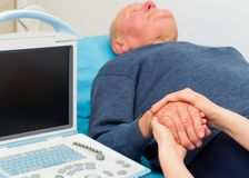 Support for Sick Elderly People Stock Images