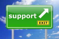 Support sign Stock Images