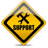 Support sign. On white background Royalty Free Stock Image