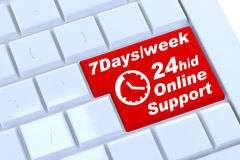 Support sign button on keyboard Stock Images