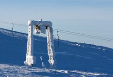 Support the ski lift Stock Image