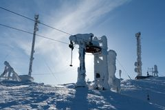 Support the ski lift Stock Photography