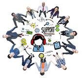 Support Solution Advice Help Care Satisfaction Quality Concept.  Royalty Free Stock Photography