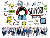 Support Solution Advice Help Care Satisfaction Quality Concept vector illustration
