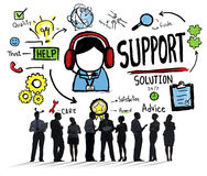 Support Solution Advice Help Care Satisfaction Quality Concept Stock Photo