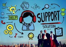 Support Solution Advice Help Quality Care Team Concept Stock Photos