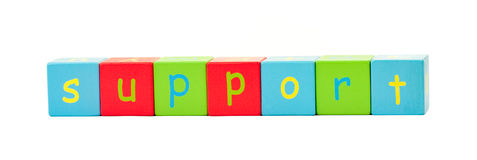 Support Spelt Out In Letters Royalty Free Stock Photo