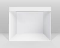 Support standard de cabine commerciale d'intérieur vide blanche d'exposition pour la présentation avec le fond illustration de vecteur