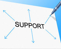 Support Supporting Represents Counselling Helping And Assist. Support Supporting Showing Helping Counselling And Help Stock Image