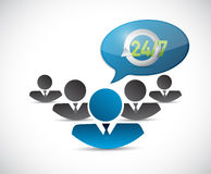 24 7 support team illustration design Stock Photos