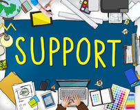 Support Teamwork Advice Assistance Togetherness Concept Stock Images