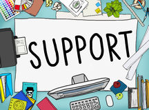 Support Teamwork Advice Assistance Togetherness Concept.  Stock Image