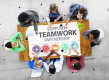Support Teamwork Partnership Group Collaboration Concept Stock Photography
