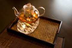 Support for teapot Stock Photos