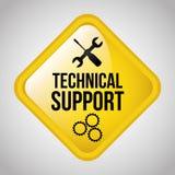 Support technique illustration de vecteur