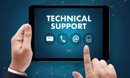 SUPPORT technology and  internet and networking businessman team Stock Images