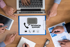 SUPPORT technology and  internet and networking businessman team Royalty Free Stock Image