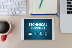 SUPPORT technology and  internet and networking businessman team Royalty Free Stock Photo