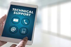 SUPPORT technology and  internet and networking businessman team Stock Photo