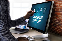 SUPPORT technology and  internet and networking businessman team Stock Photos
