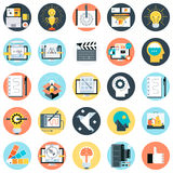 Support and tele market icon set Stock Photography