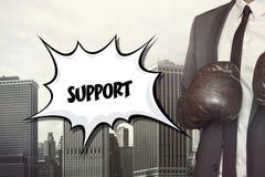 Support text on speech bubble stock illustration