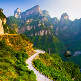 Support Tianmen (porte céleste), Chine Photos stock