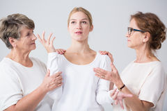 Support and trust between women. Image of support and trust between related women Stock Photography