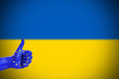 Support for Ukraine. Support from European Union for Ukraine Stock Image