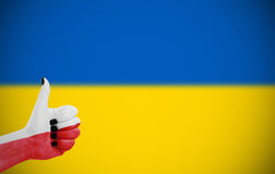 Support for Ukraine. Support from Poland for Ukraine Stock Photography