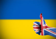 Support for Ukraine. Support from United Kingdom for Ukraine Royalty Free Stock Photo