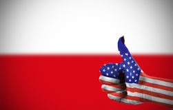 Support from United States. For Poland Stock Photo