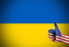 Support from United States for Ukraine. Support from United States of America for Ukraine Royalty Free Stock Photos