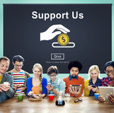 Support us Money Volunteer Donations Concept Royalty Free Stock Photo