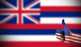 Support from USA for Hawaii. Concept photo - Support from USA for Hawaii Royalty Free Stock Images