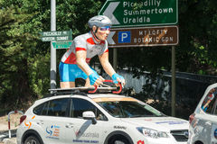 Support vehicle at the Santos Tour Down Under, January 2015 Royalty Free Stock Photography