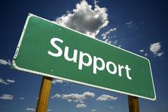Support - Verkehrsschild. Stockfotos