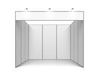 Support vide d'exposition du commerce de blanc illustration stock