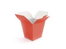 Support vide ouvert de maquette de boîte à aliments de préparation rapide d'isolement Image libre de droits