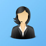 Support woman assistant illustration Stock Image