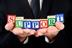 Support word Royalty Free Stock Photos