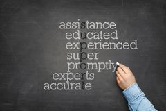 Support word cloud concept on blackboard royalty free stock photo