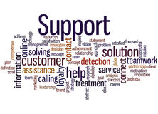 Support, word cloud concept 6 Stock Images