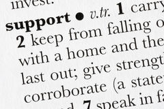 Support word dictionary defini royalty free stock images