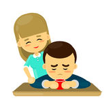 Support for your loved ones royalty free illustration