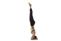 Supported headstand pose Stock Photos