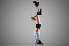 Supported Headstand posture Royalty Free Stock Photos