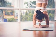 Supported headstand Stock Image