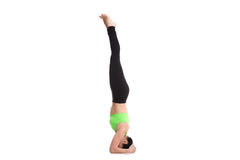 Supported Headstand yoga pose Royalty Free Stock Image